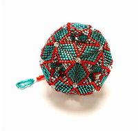 Christmas Bauble - Geometric Dodecahedron Beadwork Pattern